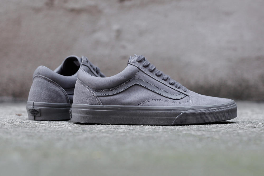 9e4449bd88c1 Grey Is the New Black on Vans  Old Skool Mono