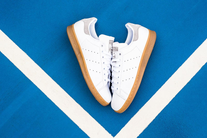 adidas originals stan smith gum sole tennis trainers sneakers
