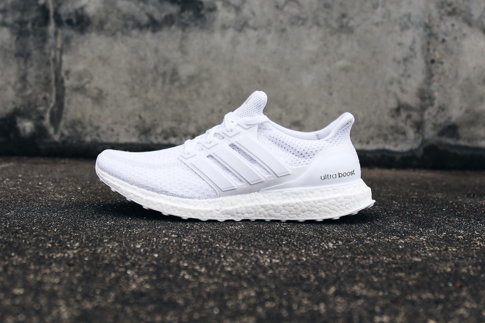 official photos b1a25 f7c90 adidas running ultra boost triple white restock sneakers runners