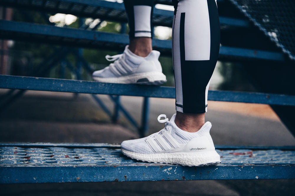 official photos fa70d 6edd2 adidas running ultra boost triple white restock sneakers runners