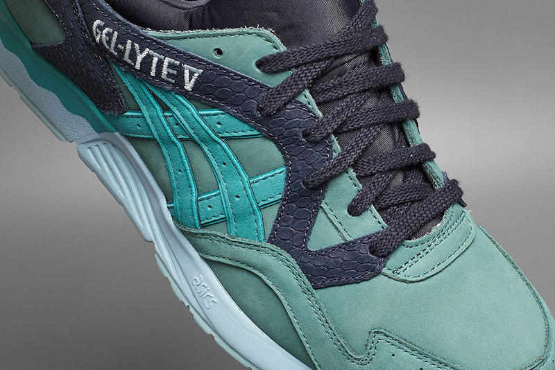 asics gel-lyte v summer escape aquamarine sea foam turquoise fish scale runner retro