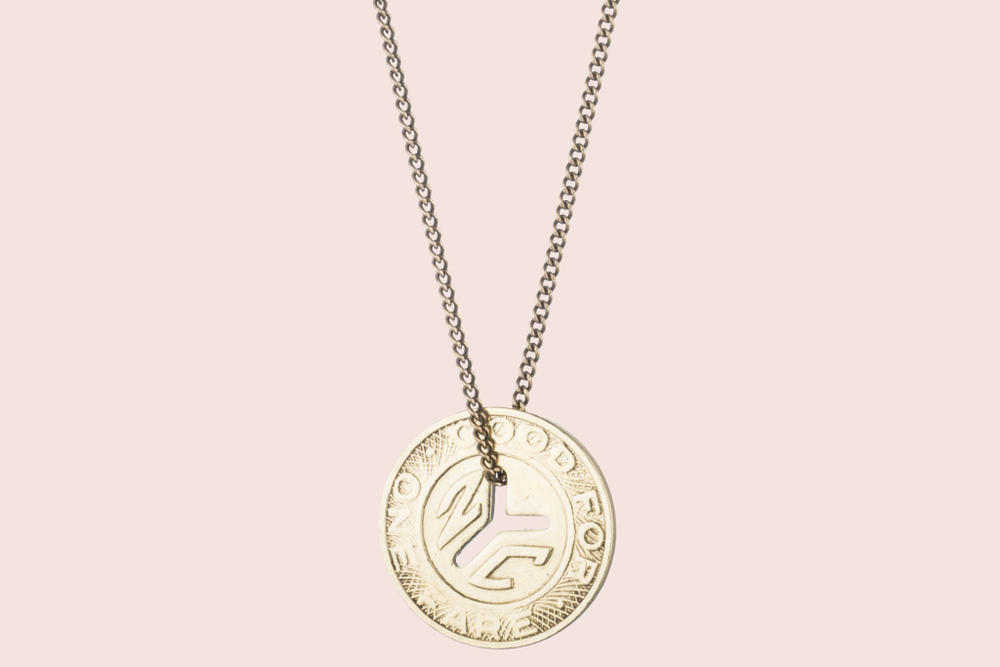 Erica Weiner NY Transit Token Necklace