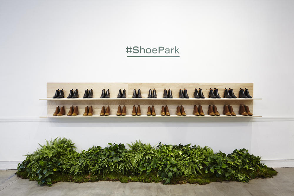 everlane shoe park nyc new york city urban oasis pop up glossier balm dotcom blue bottle coffee