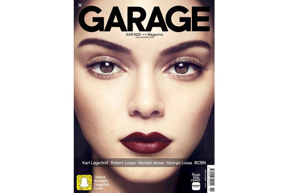 Kendall Jenner Garage Magazine Snapchat