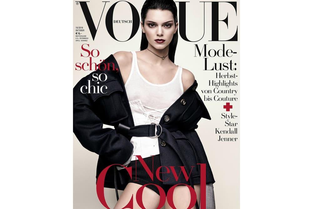 Kendall Jenner Vogue Germany 2016 October Cover