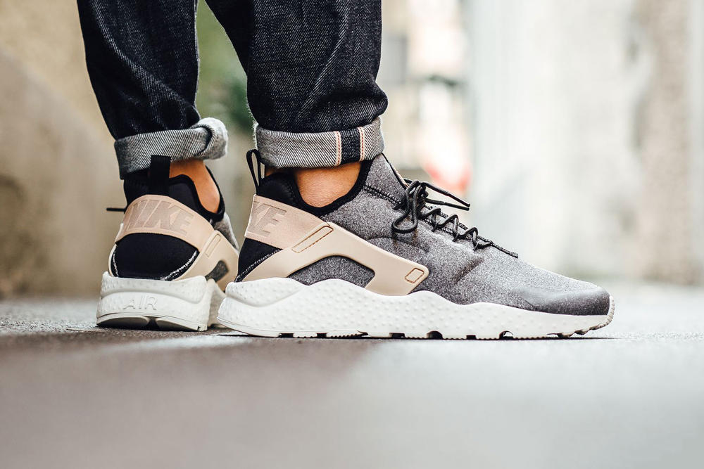 Nike Air Huarache Run Ultra SE Black Tan White
