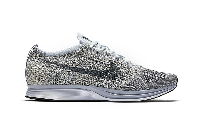 best website 61f6b 9c316 Nike Flyknit Racer Pure Platinum