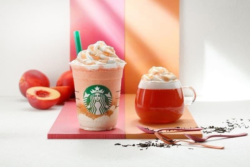 Starbucks Japan Nectarine Peach Frappuccino and Tea