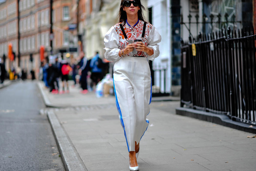 streetsnaps london fashion week mishbv rihanna fenty puma chanel celine vans