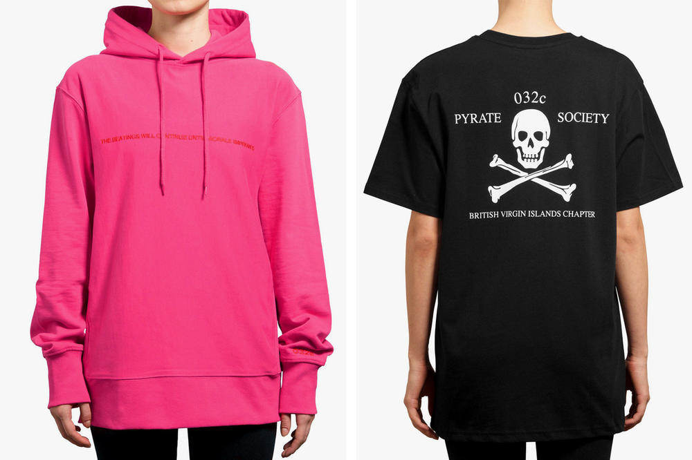 032c Pyrate Society Collection Hoodie T-Short