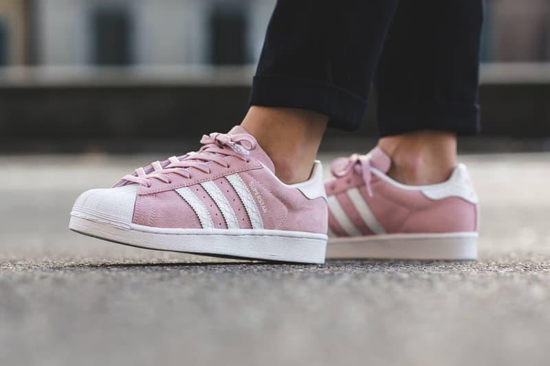 adidas Superstar pink footwear white