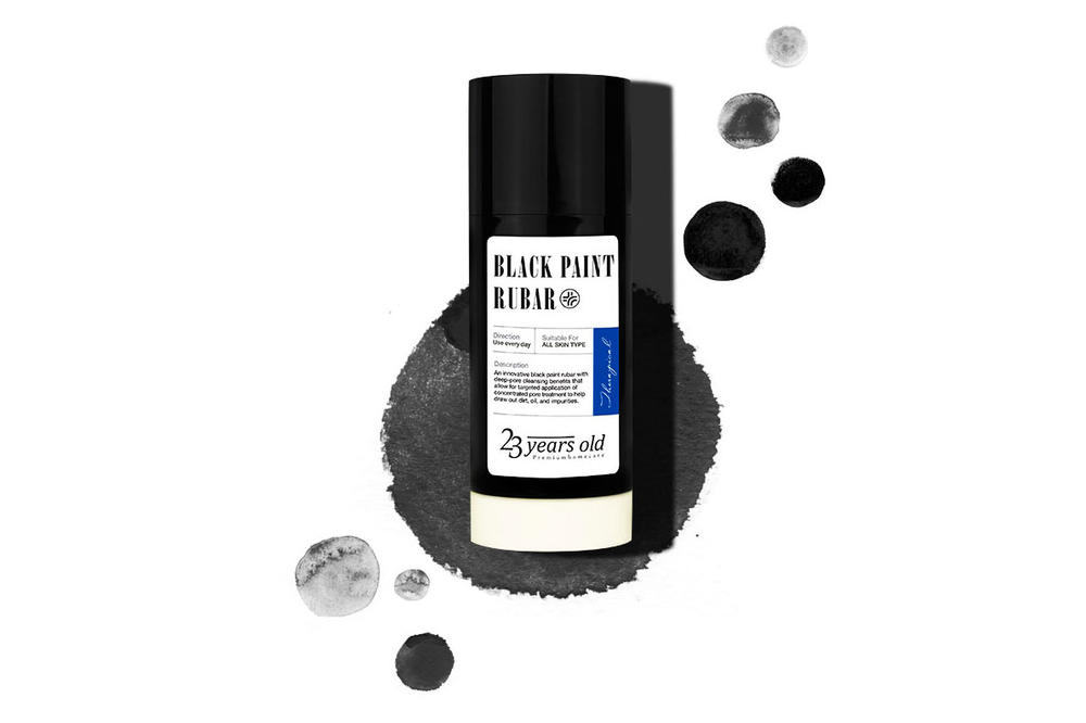 23years old black paint rubar skincare blackhead removal kbeauty