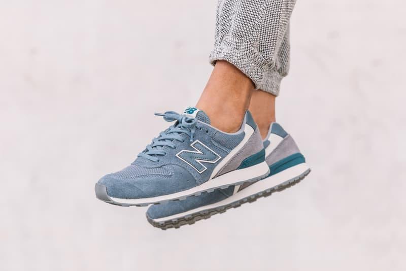 New Balance WR 996 Blue Rain On Feet
