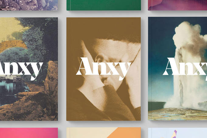 anxy mental health illness graphic design magazine publication