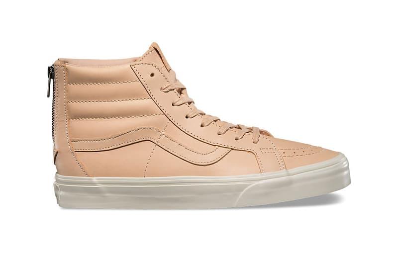 Vans Vachetta Tan Leather Old Skool Sk8 Hi