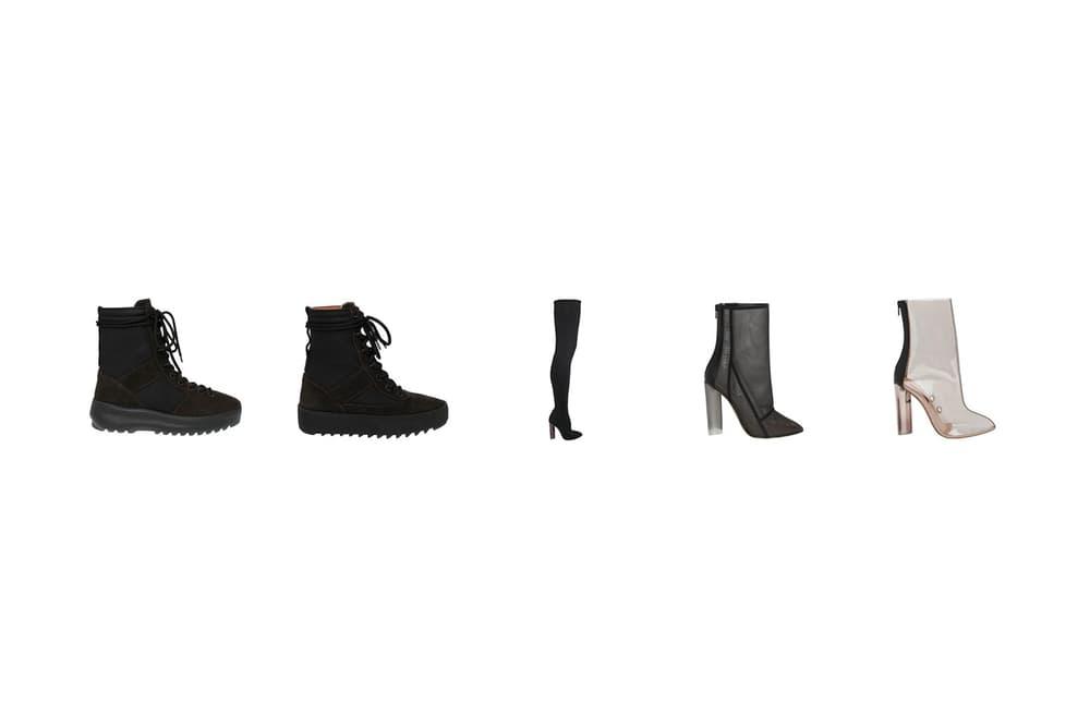 yeezy supply season 3 footwear sock knit boot military mesh ankle pvc
