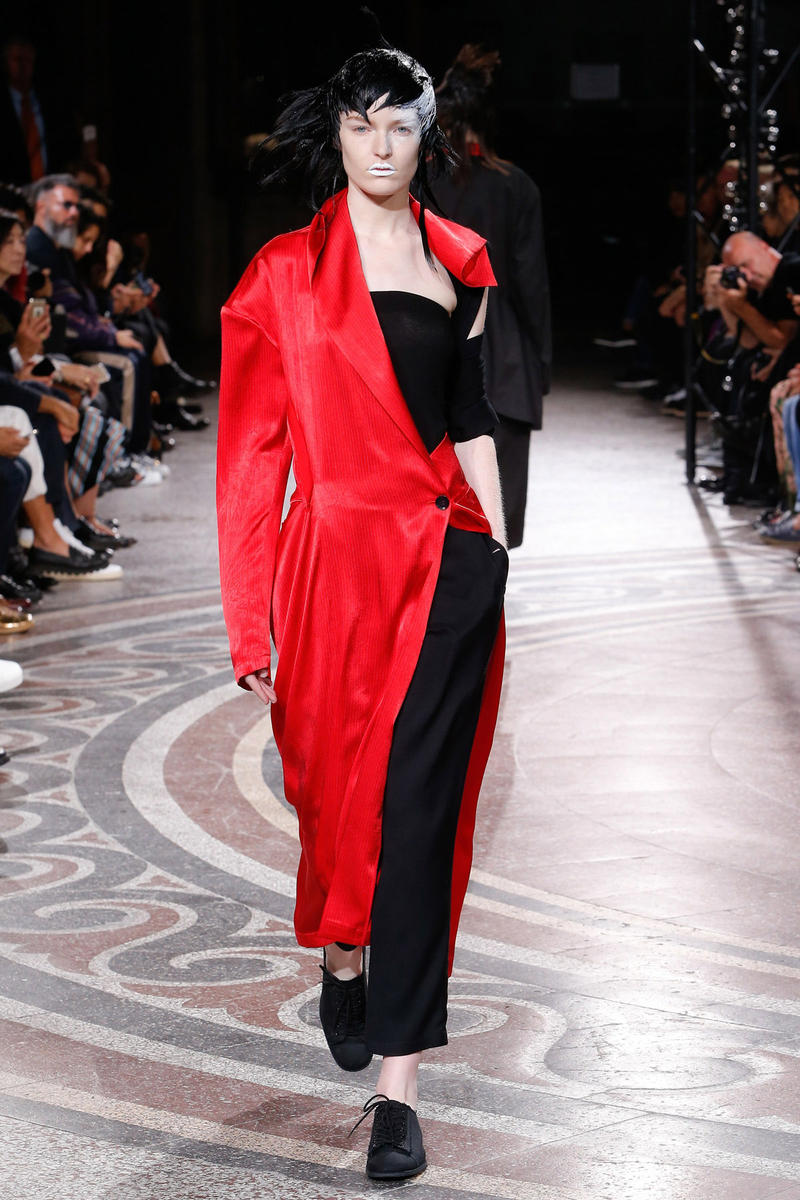 yohji yamamoto paris fashion week pfw spring summer 2017 runway