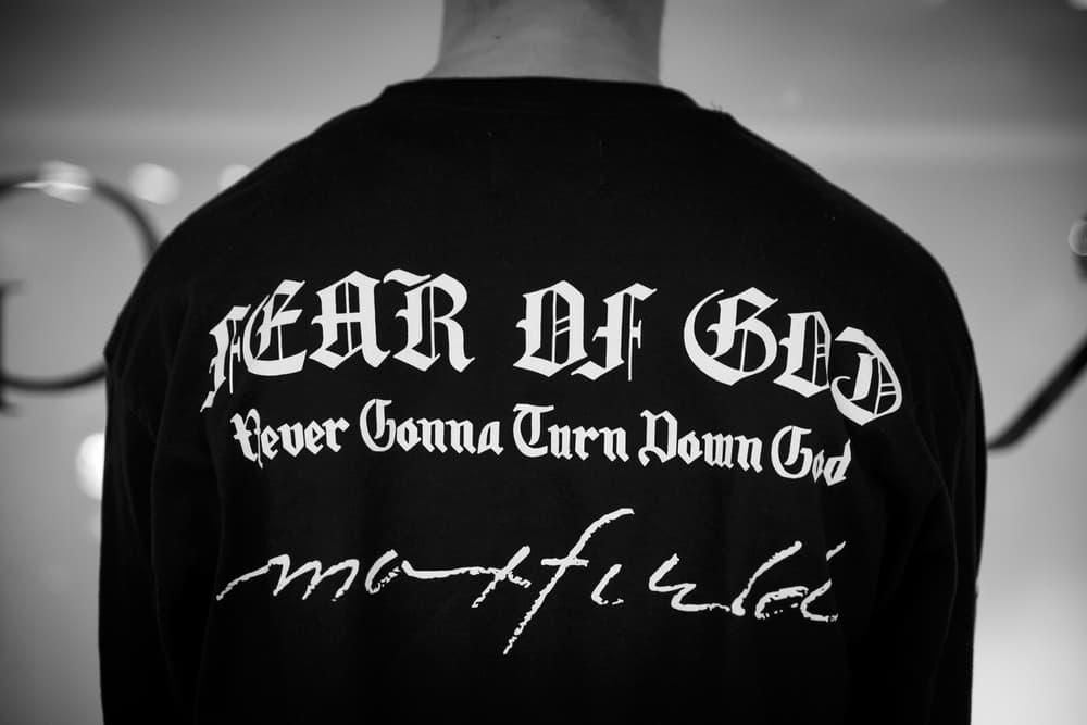 Jerry Lorenzo Fear of God Maxfield Pop Up Los Angeles