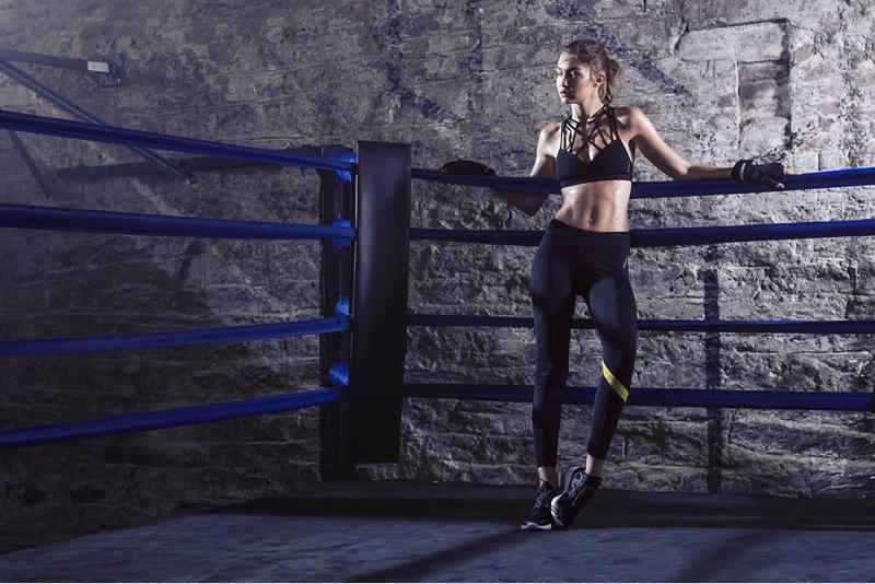 Gigi Hadid Reebok 2016 Winter Campaign