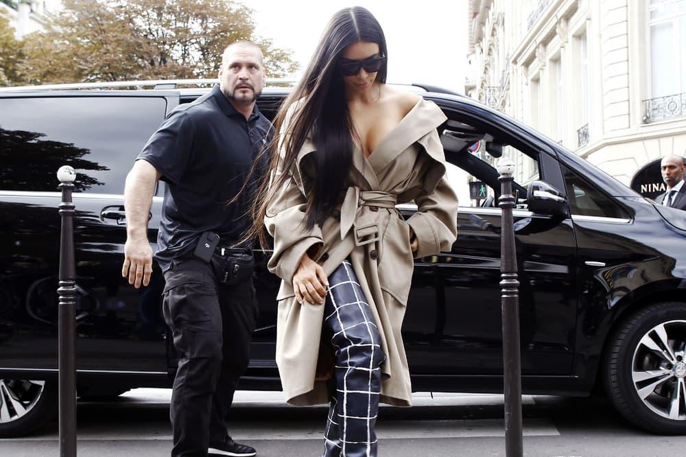 Kim Kardashian Pascal Duvier Balenciaga 2016 Spring Summer Show