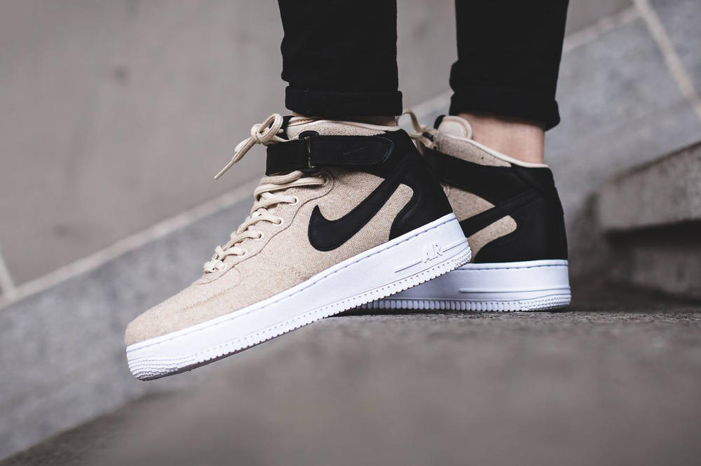 new concept dfb1a 8a350 nike air force 1 07 mid leather premium oatmeal womens exclusive