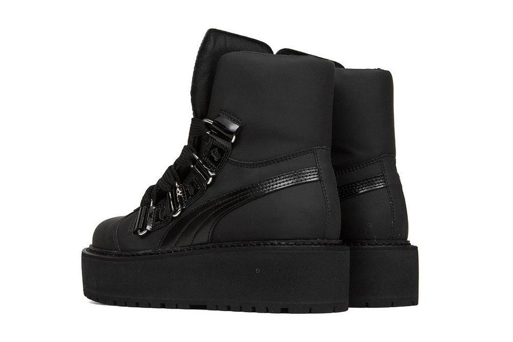 rihanna fenty puma sneaker boot unisex platform patent leather