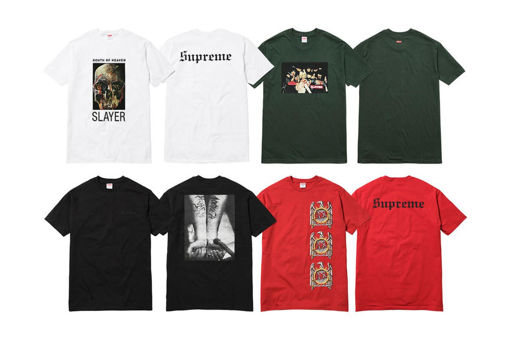 Slayer x Supreme 2016 Fall Collection