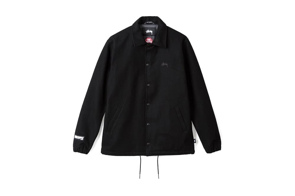 stussy woolen windstopper coach jacket plaid
