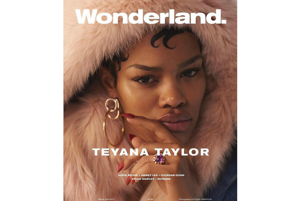 Teyana Taylor Jourdan Dunn Wonderland Magazine's 2016 Winter Cover