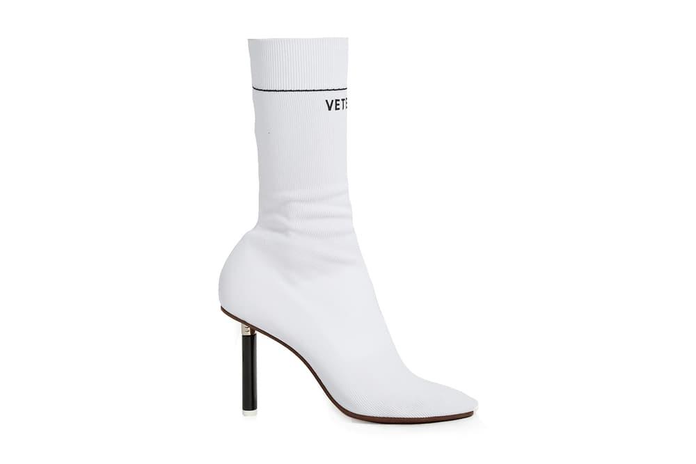 Vetements Lighter-Heel Sock Ankle Boots Red White Blue