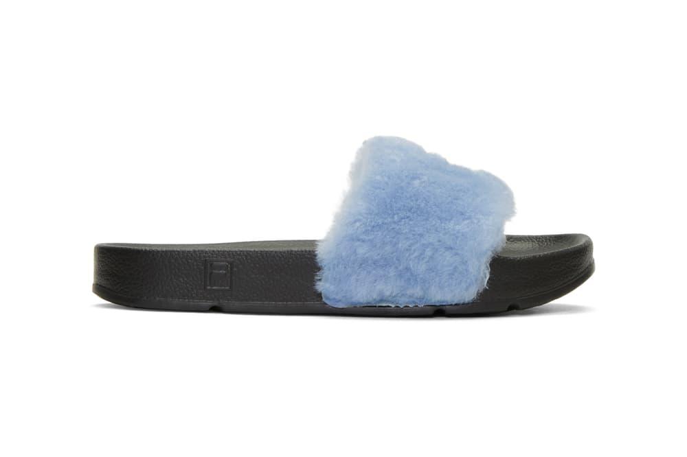 Baja East Fila Edition Drifter Sandals Pink Blue
