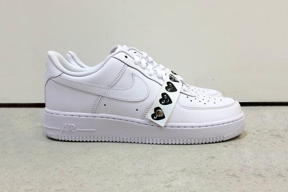 prix le plus bas ed520 c9017 COMME des GARÇONS x Nike Air Force 1 Surfaces Online   HYPEBAE