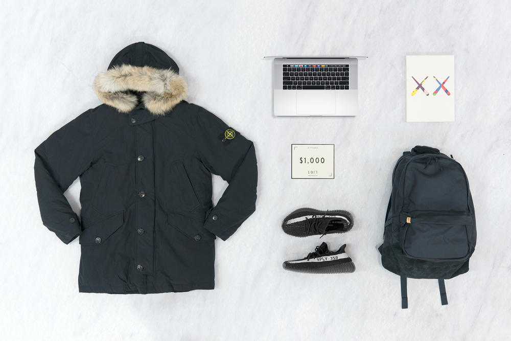 HYPEBEAST x LOIT Macbook Pro Touch Bar YEEZY BOOST 350 V2 Black/White Stone Island Jacket visvim Backpack