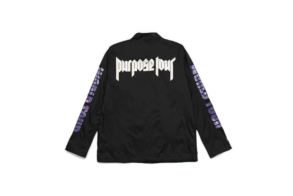 Justin Bieber Purpose Tour 2017 Spring/Summer Merch