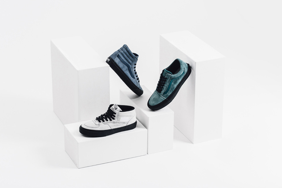 7ccba989c1 Maiden Noir x Vans Vault Collection Has the Hairy Suede Blues