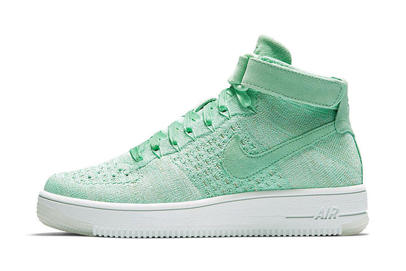Nike Air Force 1 Ultra Flyknit Mid Enamel Green