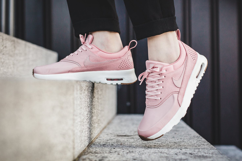 hot sale online a1374 82519 Nike Air Max Thea Premium Pink Glaze Is One Tone-Simple   HYPEBAE