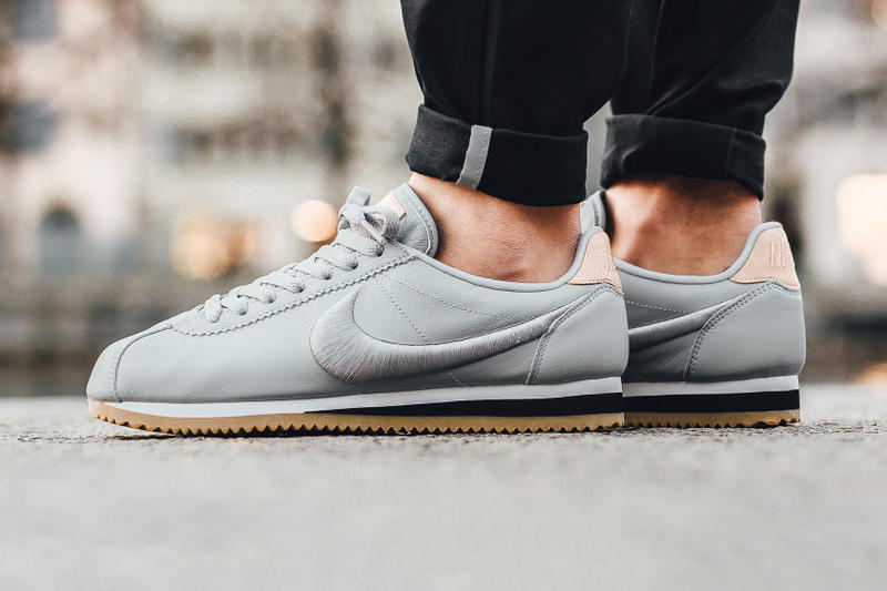 timeless design dcbaa 1bd94 Nike Classic Cortez Leather Premium Wolf Grey