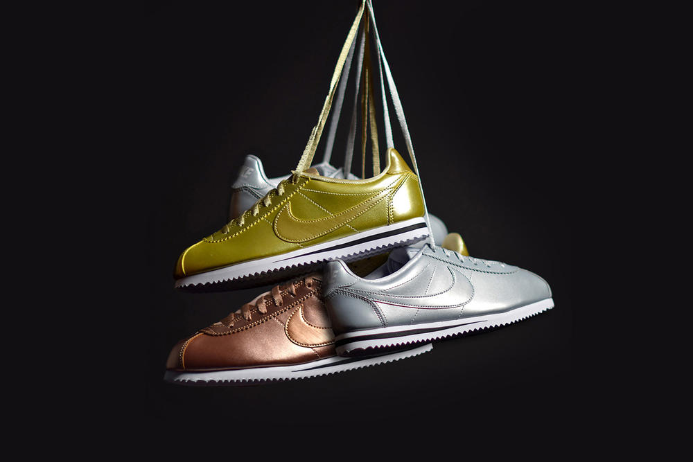 Nike Cortez Metallic Pack Gold Silver Bronze