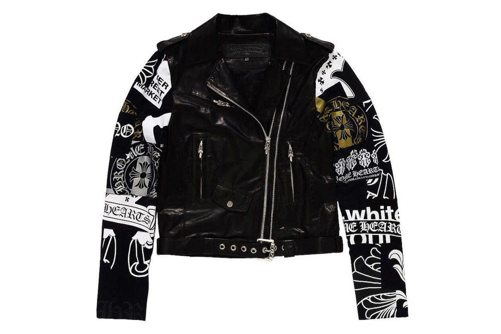 OFF-WHITE Chrome Hearts Leather Jacket