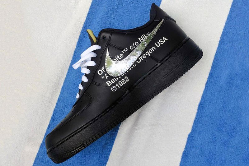 c11a6938722514 The OFF-WHITE x Nike Air Force 1 Boasts a Metallic Silver Swoosh. Here s a closer  look at the mysterious shoe.