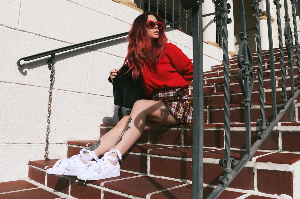 PUMA Basket Heart Black White Alysha Nett Allie Layus