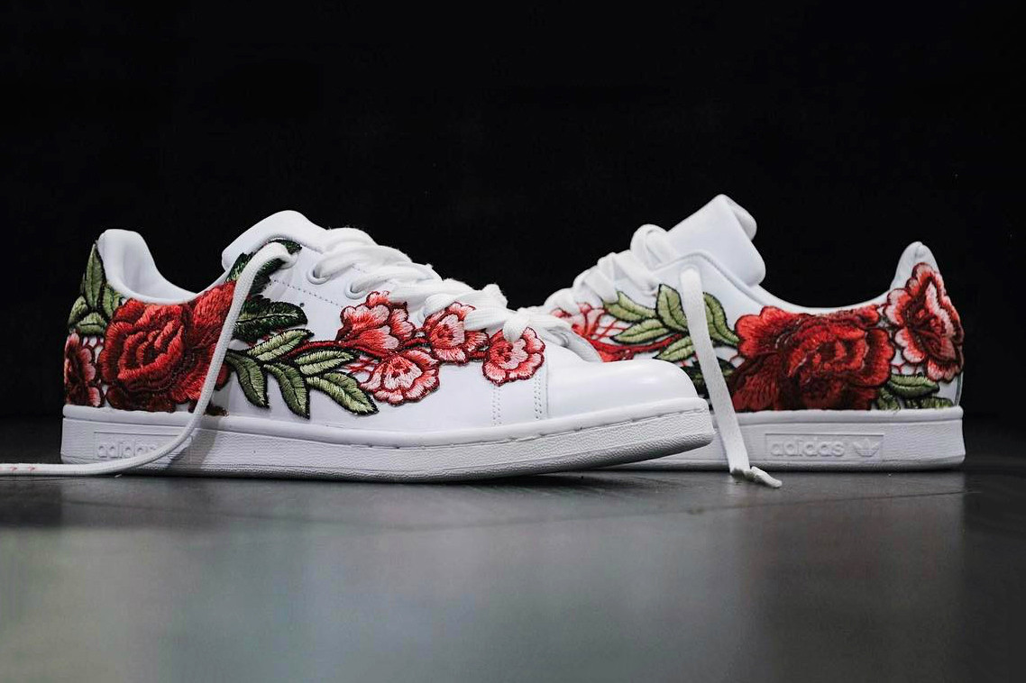 online store ede65 39f79 Check out adidas Stan Smith Flowerbomb Custom   HYPEBAE