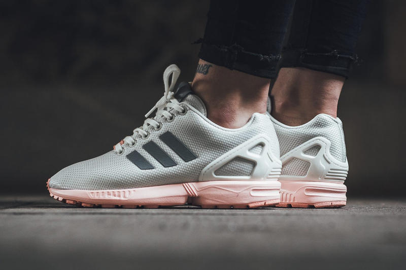 adidas ZX Flux Footwear White/Metallic Silver