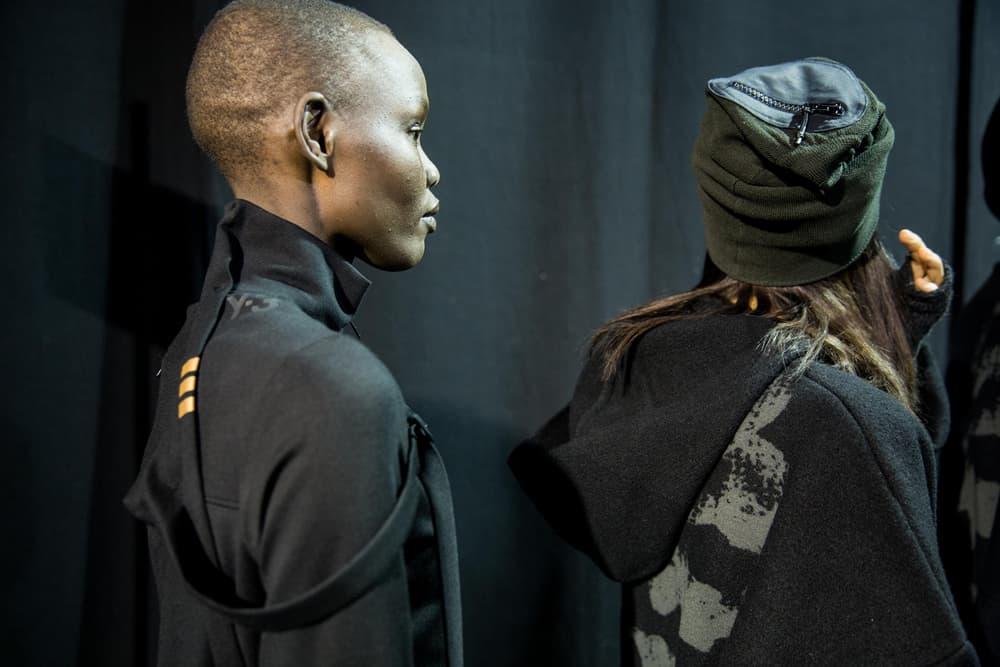 adidas y-3 yohji yamamoto paris fashion week backstage