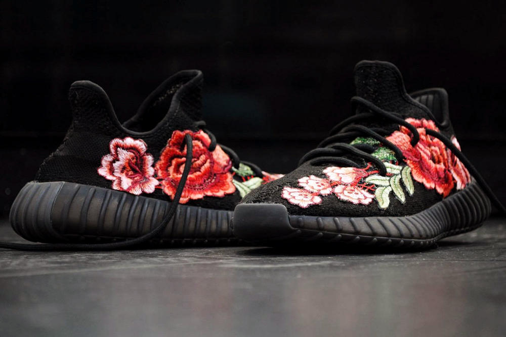 adidas Yeezy Boost 350 V2 FRE Customs Floral Flowerbomb