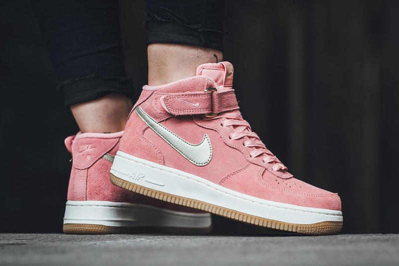 Nike Air Force 1 07 Mid Bright Melon Metallic Gold Star