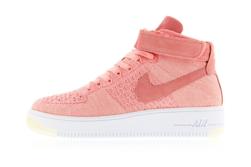 finest selection 52372 e1200 Nike s Latest Air Force 1 Flyknit Gets Dipped in Peachy Pink