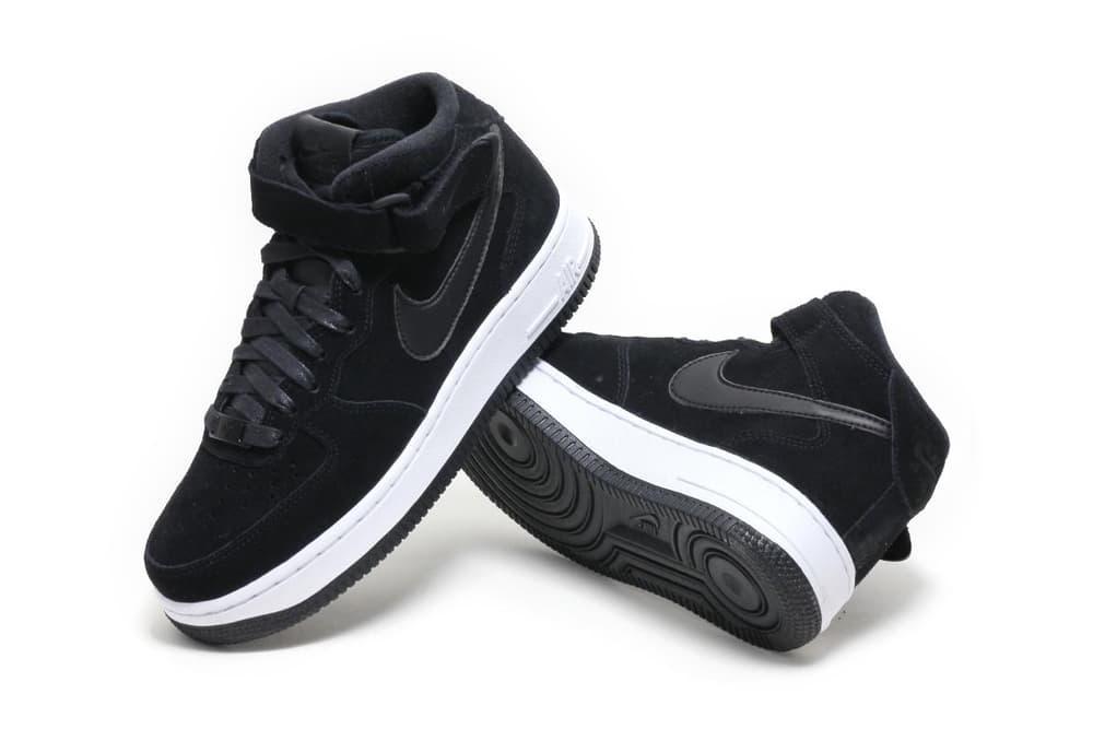 Nike Air Force 1 Mid 07 Black Suede