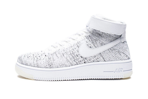 detailed look 5a9d6 74969 The Latest Nike Air Force 1 Ultra Flyknit Mid Is Covered in Speckled Grey